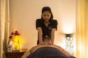 Lady Massaging a Client   Tara Massage